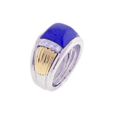 Van Cleef Arpels Van Cleef Arpels Lapis and Diamond White and Yellow Gold Ring