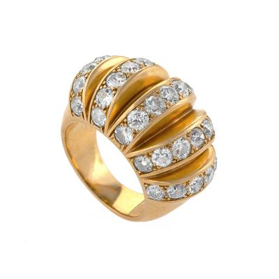 Van Cleef Arpels Van Cleef Arpels Mid 20th Century Diamond and Gold Bomb Watermelon Ring
