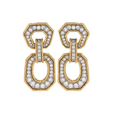 Van Cleef Arpels Van Cleef Arpels Mid 20th Century Gold and Diamond Earrings