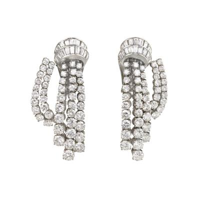 Van Cleef Arpels Van Cleef Arpels Mid Century Diamond Cascade Earrings