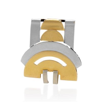 Van Cleef Arpels Van Cleef Arpels Paris Art Deco Gold Clip Brooch