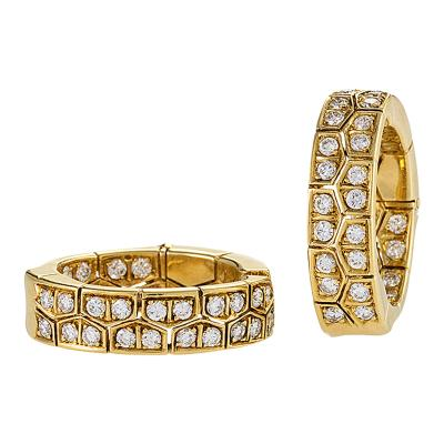 Van Cleef Arpels Van Cleef Arpels Paris Diamond and Gold Hoop Earring