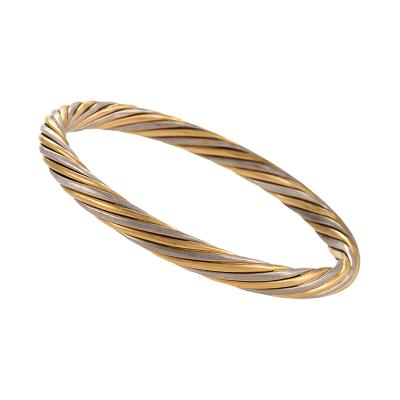 Van Cleef Arpels Van Cleef Arpels Paris Late 20th Century Gold Twist Bangle Bracelet