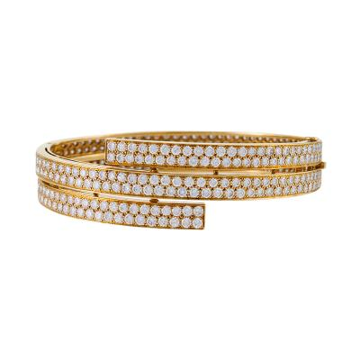 Van Cleef Arpels Van Cleef Arpels Paris Mid Century Diamond and Gold Bangle Bracelet
