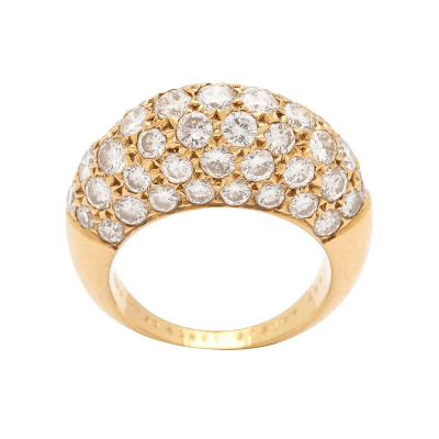 Van Cleef Arpels Van Cleef Arpels Pave Diamond Gold Ring