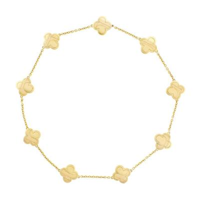 Van Cleef Arpels Van Cleef Arpels Pure Alhambra Yellow Gold 9 Station Necklace