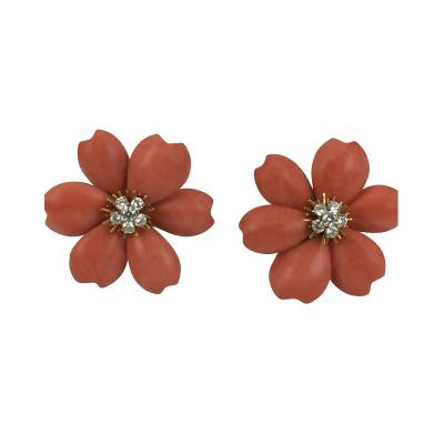 Van Cleef Arpels Van Cleef Arpels Rose de Noel Earrings