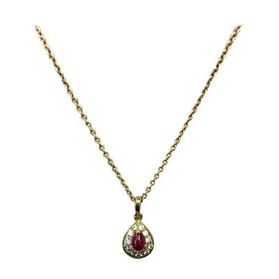 Van Cleef Arpels Van Cleef Arpels Ruby Diamond Gold Pendant Necklace