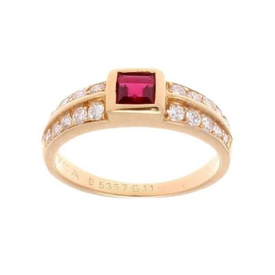 Van Cleef Arpels Van Cleef Arpels Ruby Diamond Gold Ring