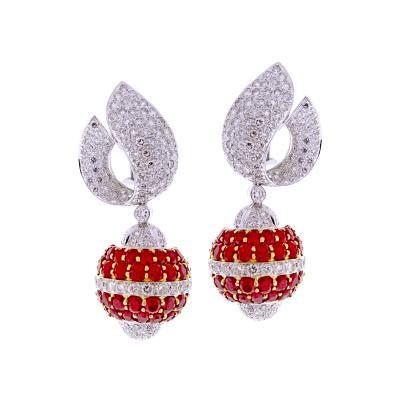 Van Cleef Arpels Van Cleef Arpels Ruby and Diamond Earrings