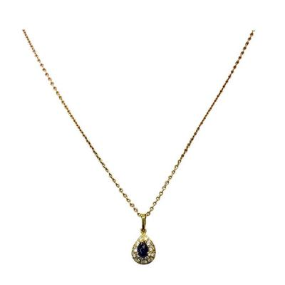 Van Cleef Arpels Van Cleef Arpels Sapphire Diamond Pendant Gold Necklace