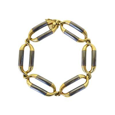 Van Cleef Arpels Van Cleef Arpels Steel and Gold Link Bracelet