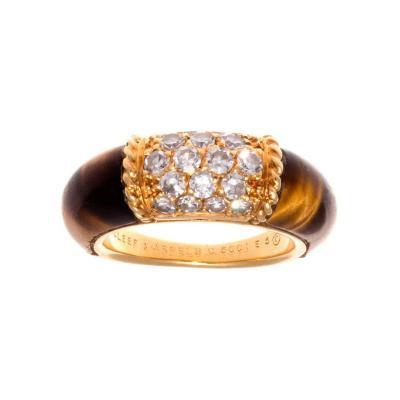 Van Cleef Arpels Van Cleef Arpels Tigers Eye Diamond Gold Philippine Ring