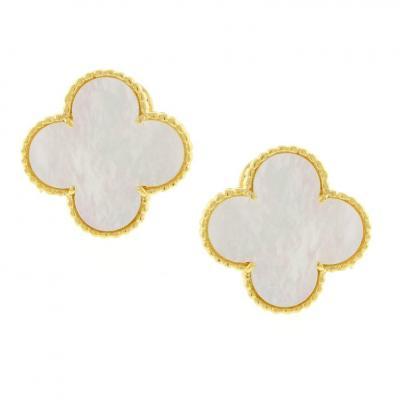 Van Cleef Arpels Van Cleef Arpels Vintage Alhambra Mother of Pearl Earrings