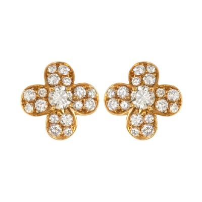 Van Cleef Arpels Van Cleef Arpels diamond clover earrings