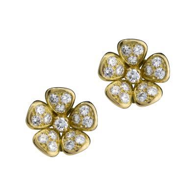 Van Cleef Arpels Van Cleef Arpels diamond flower earrings