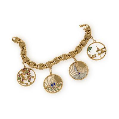 Van Cleef Arpels Van Cleef and Arpels 1950s Charm Bracelet