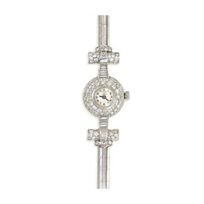 Van Cleef Arpels Van Cleef and Arpels Art Deco Diamond Dress Watch