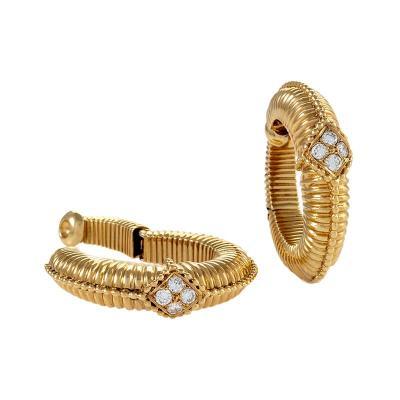 Van Cleef Arpels Van Cleef and Arpels Diamond Hoop Earrings