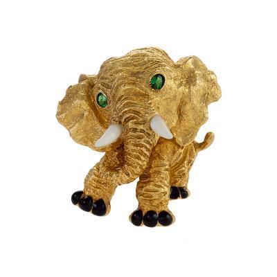 Van Cleef Arpels Van Cleef and Arpels Elephant Brooch