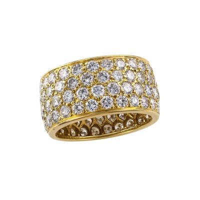 Van Cleef Arpels Van Cleef and Arpels Estate Wide Diamond Eternity Ring