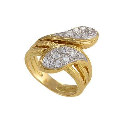 Van Cleef Arpels Van Cleef and Arpels Paris Mid 20th Century Diamond Platinum and Gold Ring