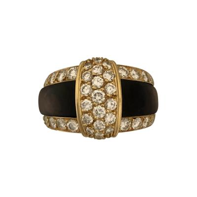 Van Cleef Arpels Van cleef Arpels diamond and black mother of pearl ring