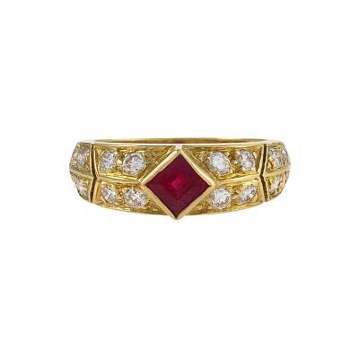 Van Cleef and Arpels Gold Ruby and Diamond Ring by Van Cleef Arpels
