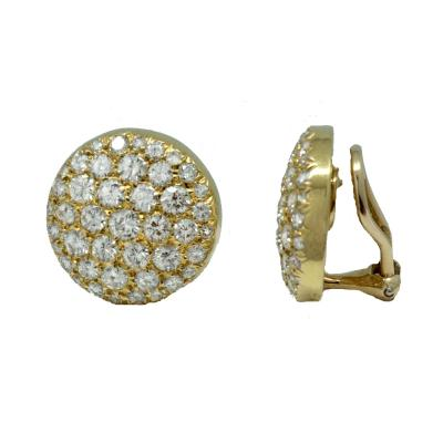 Van Cleef and Arpels Van Cleef Arpels Diamond Button Earrings