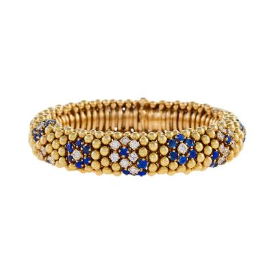 Van Cleef and Arpels Van Cleef Arpels Mid 20th Century Diamond and Sapphire Lawn Bracelet