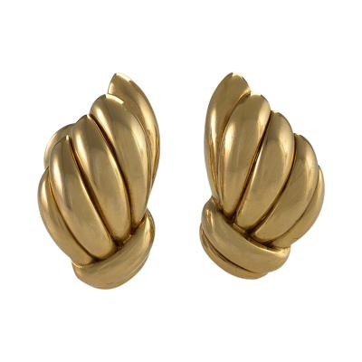 Van Cleef and Arpels Van Cleef Arpels Mid 20th Century Gold Earrings