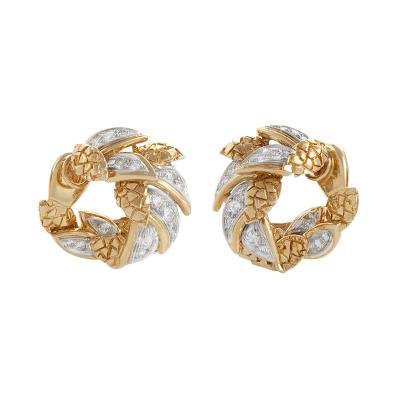 Van Cleef and Arpels Van Cleef Arpels Paris Mid 20th Century Diamond and Gold Earrings