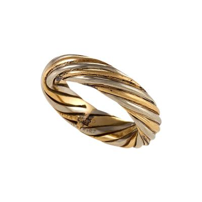Van Cleef and Arpels Van Cleef Arpels Paris Twisted Gold Ring Band
