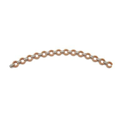 Van Cleef and Arpels Van Cleef Arpels pink gold and diamond bracelet