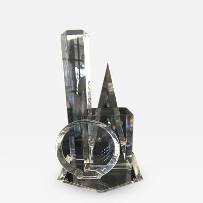 Van Teal Abstract Lucite Sculpture by Van Teal
