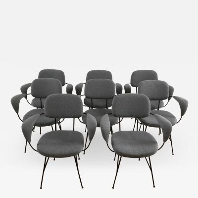 Velca Legnano 1950s Eight Chairs by Velca