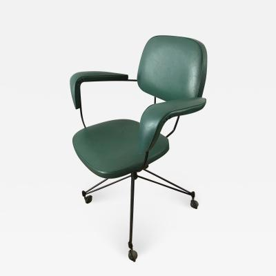 Velca Legnano Rare 1950s Swivel Desk Chair