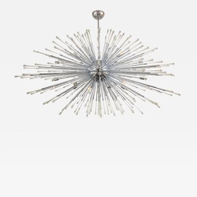 Venfield Custom Extra Large All Teardrop Sputnik Chandelier in Polished Chrome