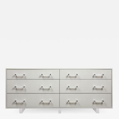 Venfield Custom Floating Lacquered Dresser with Acrylic Bases