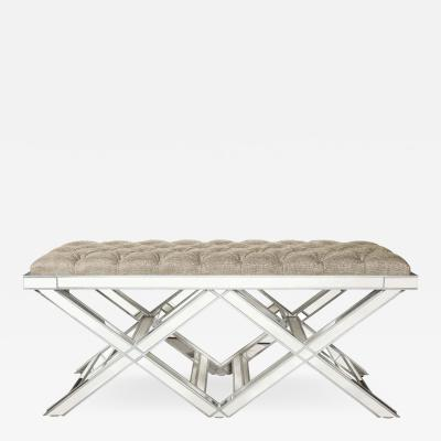 Venfield Double Silver Trim Mirrored X Band Bench
