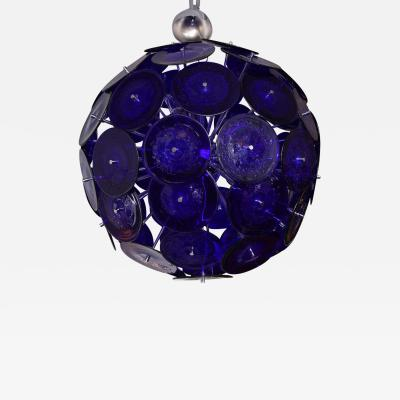 Venfield Large Blue Bubble Murano Glass Disc Sputnik Chandelier