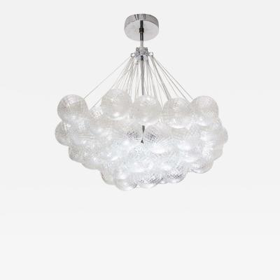 Venfield Murano Floating Clustered Globe Chandelier in Polished Nickel
