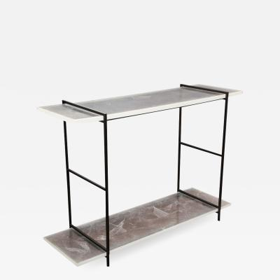 Venfield Novelty Stardust Acrylic Console Table with Solid Metal Legs