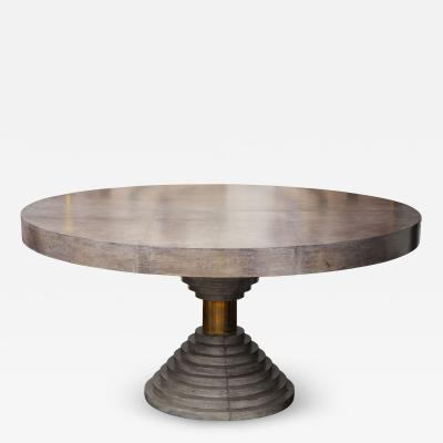 Venfield Round Expandable Parchment Dining Table