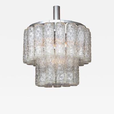 Venice Murano Co Murano Two Tier Chandelier with Sculpted Glass Pendants
