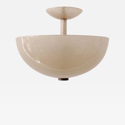 Venini 1930s Venini Murano Bollicine glass ceiling lamp