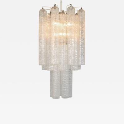 Venini 1950s Italian Glass Chandelier by Venini