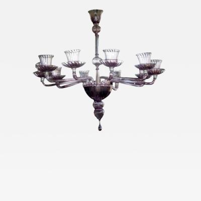 Venini 1970s Murano chandelier by Venini