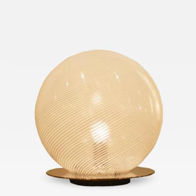 Venini A Glass Globe Modernist Table Lamp by Venini