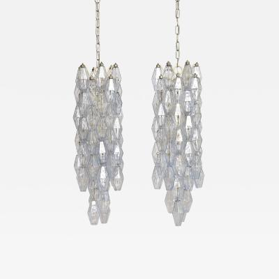 Venini A pair of mid century Murano chandeliers by Paolo Venini